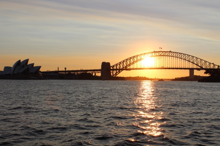 Sydney at sunset - what a sight