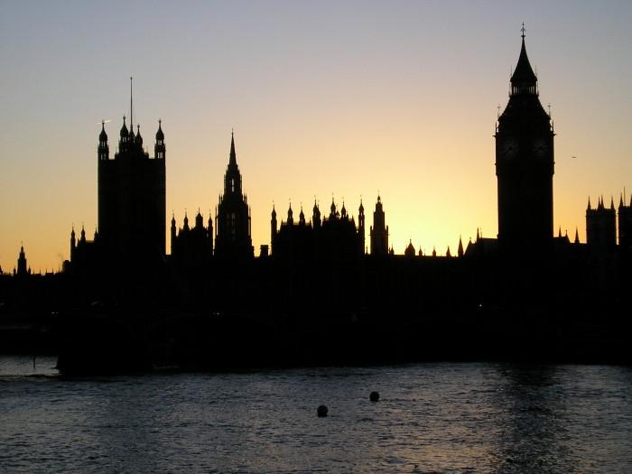 London big ben in sillouette